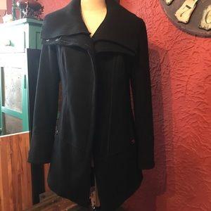 Steve Madden Diagonal Alley Coat in Black